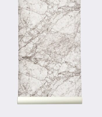 Papier peint - Marbre gris