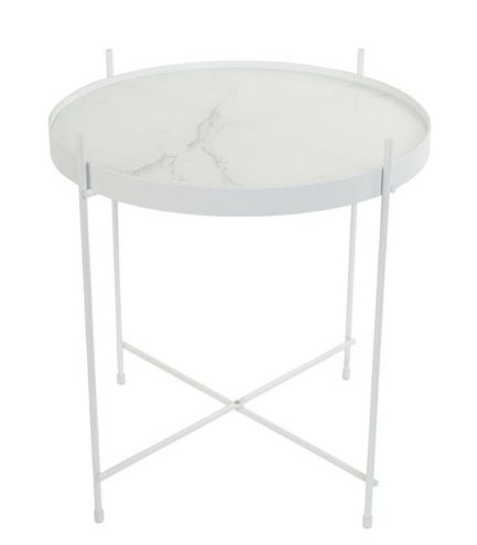 Table d'appoint blanche Cupidon - Marbre