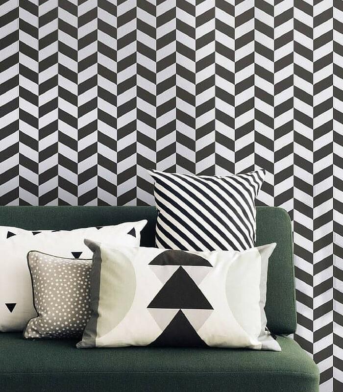 Papier peint Angle - Black & white