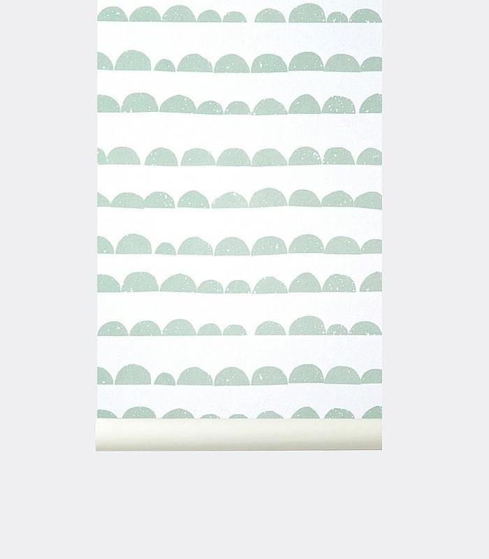 Papier peint - Half moon Mint