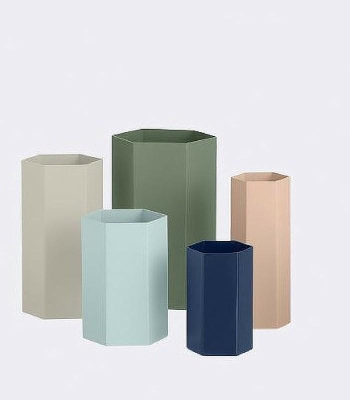 Vase/pot hexagonal - Rose