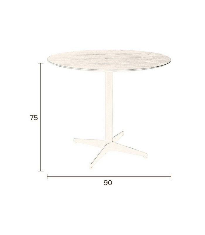 Table à manger ronde Ø90 cm - Noyer