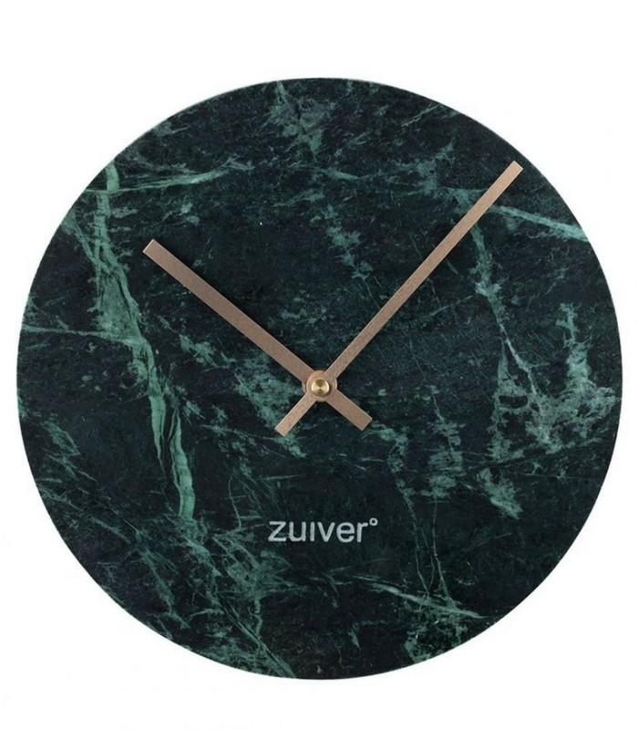 Horloge Marbre vert & Or - Ø 25