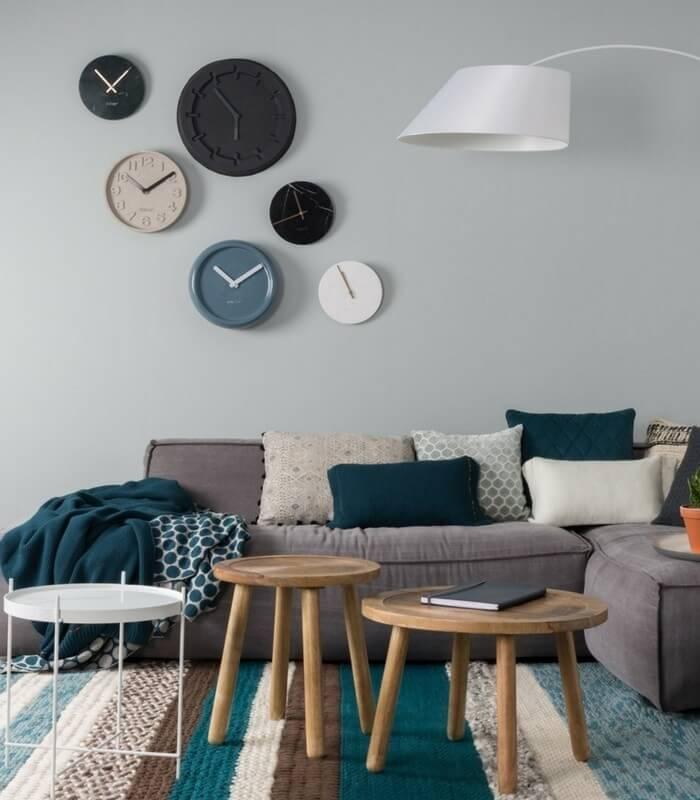 Horloge Marbre noir & Or - Ø 25