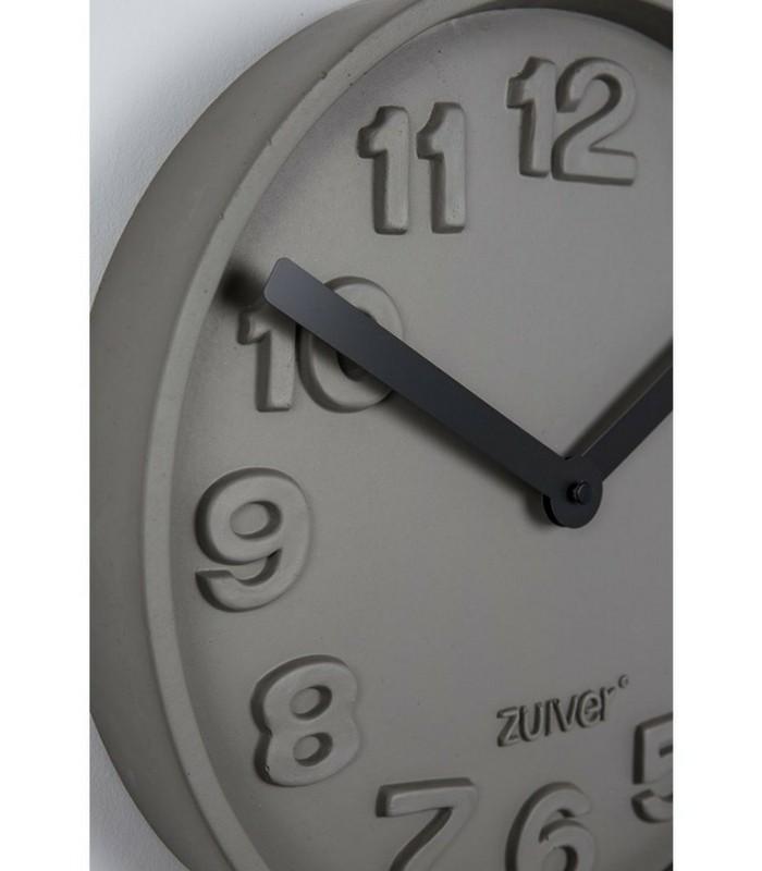 Horloge murale béton Time - Noir