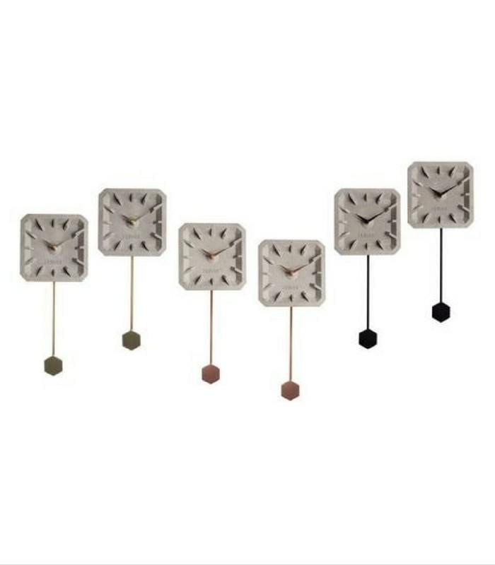 Horloge Tik Tak Time - Béton/Cuivre