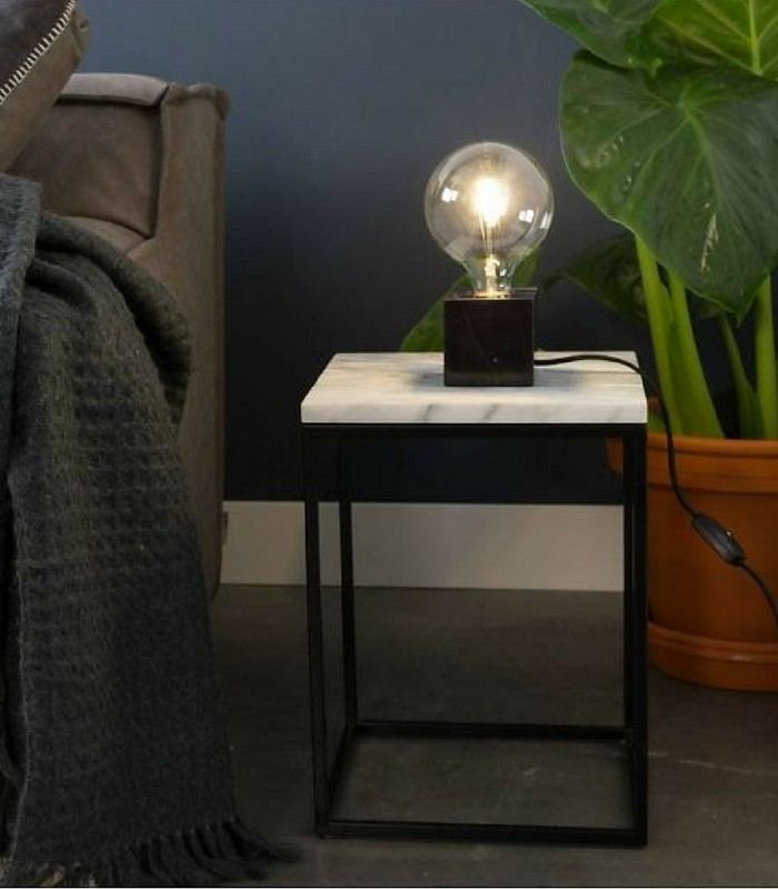 Lampe de table Cubic - Marbre noir