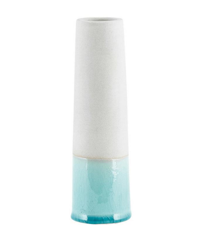 Vase Tube - Bleu/Gris