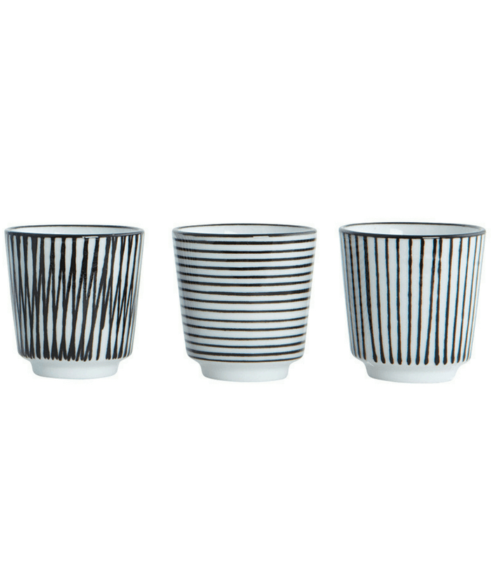 Lot de 3 Coquetiers Pen Stripe