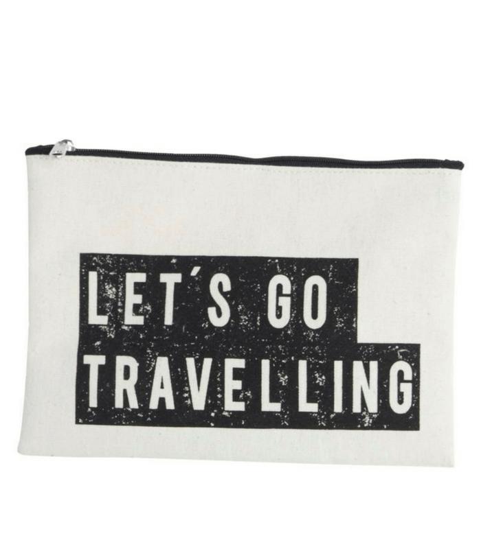 Pochette de voyage/Make-up - Let's go travelling