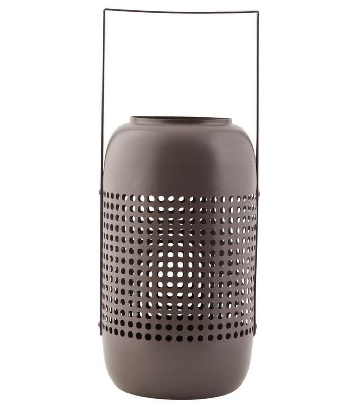 Grande lanterne Panel - Verre Kaki