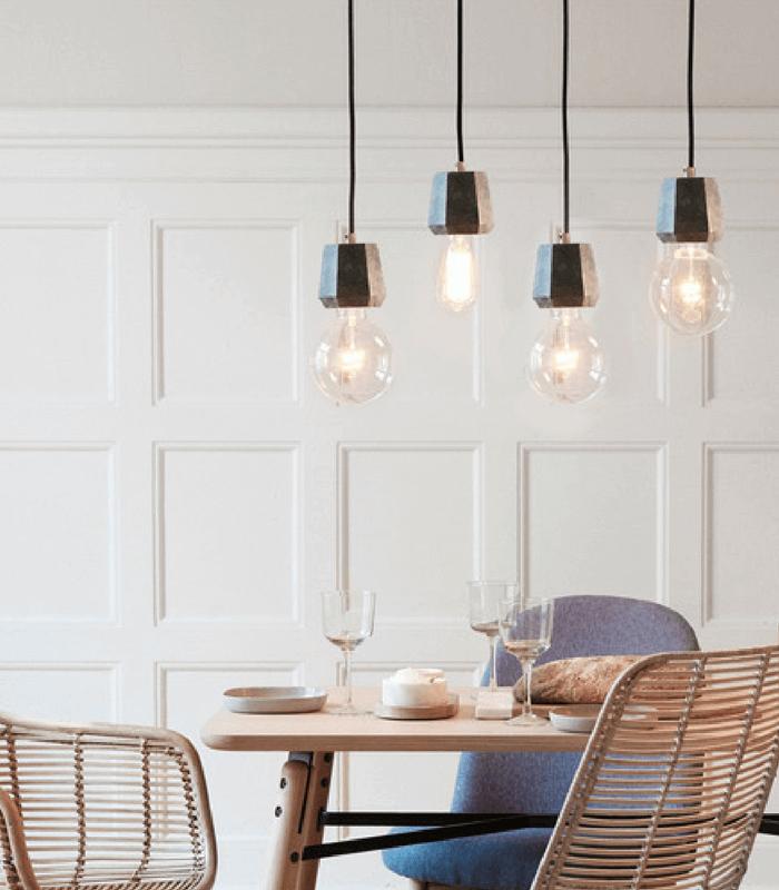 Lampe suspension - Marbre vert