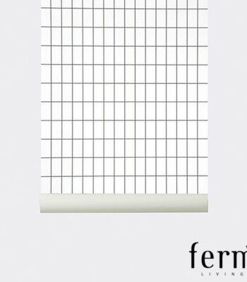 Papier-peint Grid - Black & White