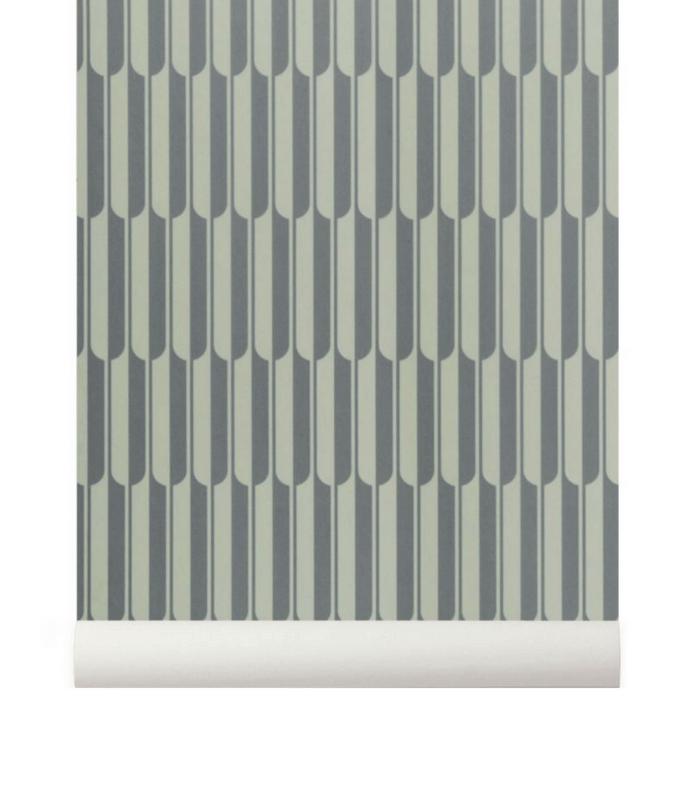 Papier-peint Arch - Gris/blanc