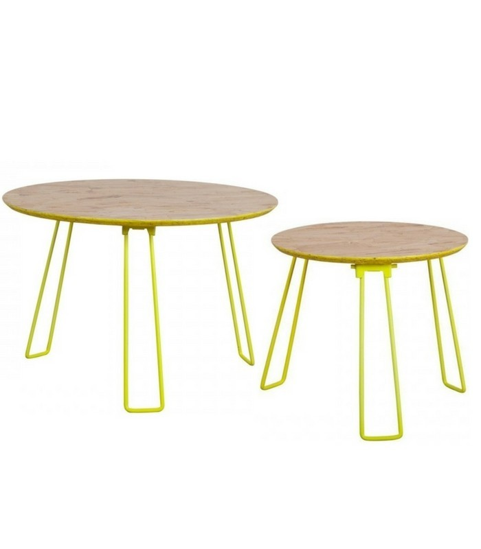 Table D Appoint Osb Jaune Fluo Meubles Pastel Living