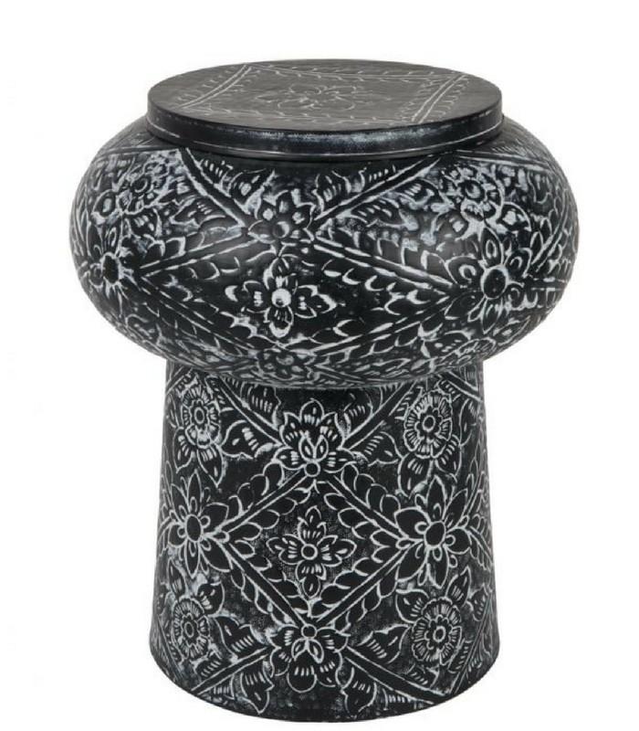 Table déco tambour - Couvercle amovible