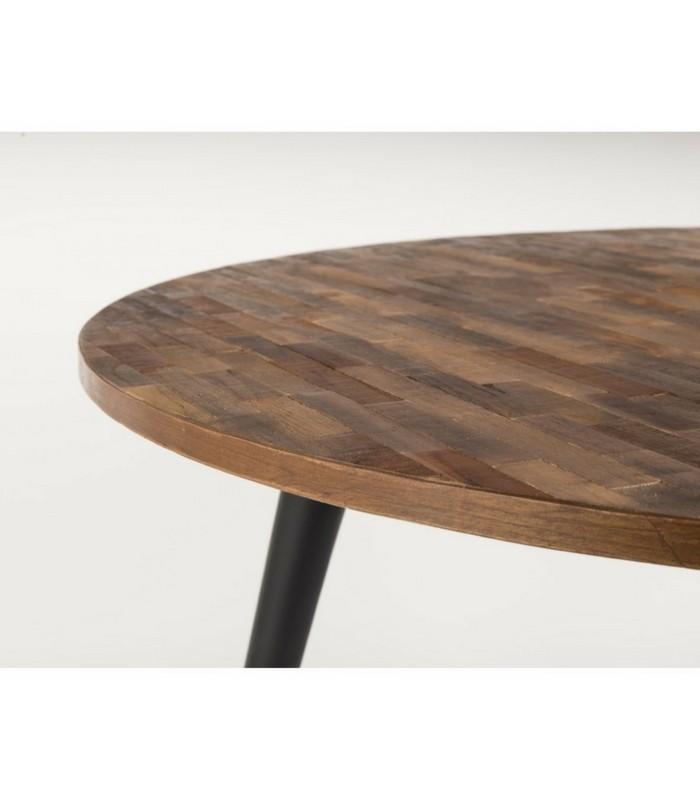 Table à manger Ø 110 cm - Teck recyclé