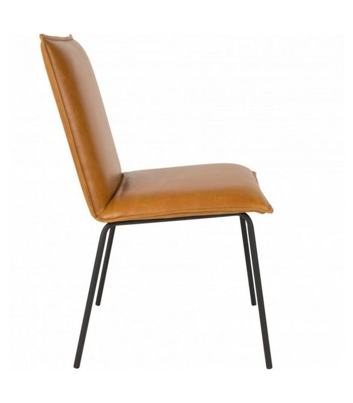 Chaise Floke - Cuir vintage