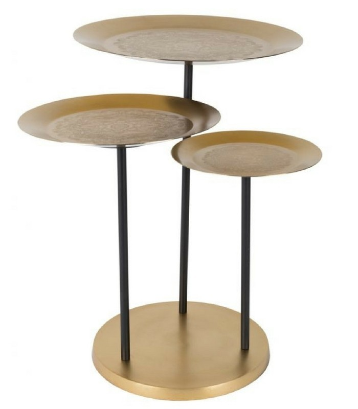 Table Trio orientale - Laiton