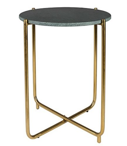 Table d'appoint Shiny - Laiton/Marbre