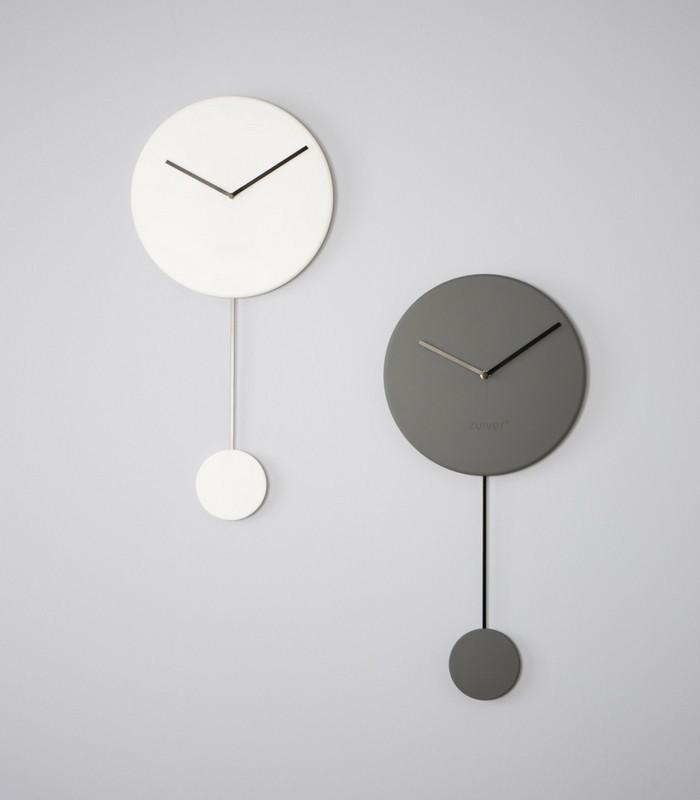 Horloge Minimale - Gris