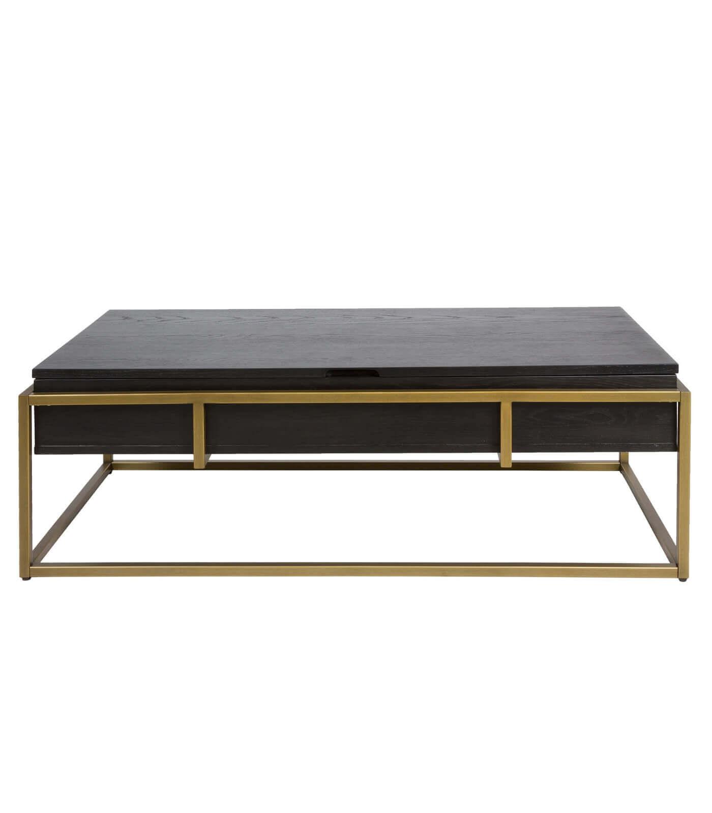 table basse blacky plateau relevable bois laiton pastel living. Black Bedroom Furniture Sets. Home Design Ideas