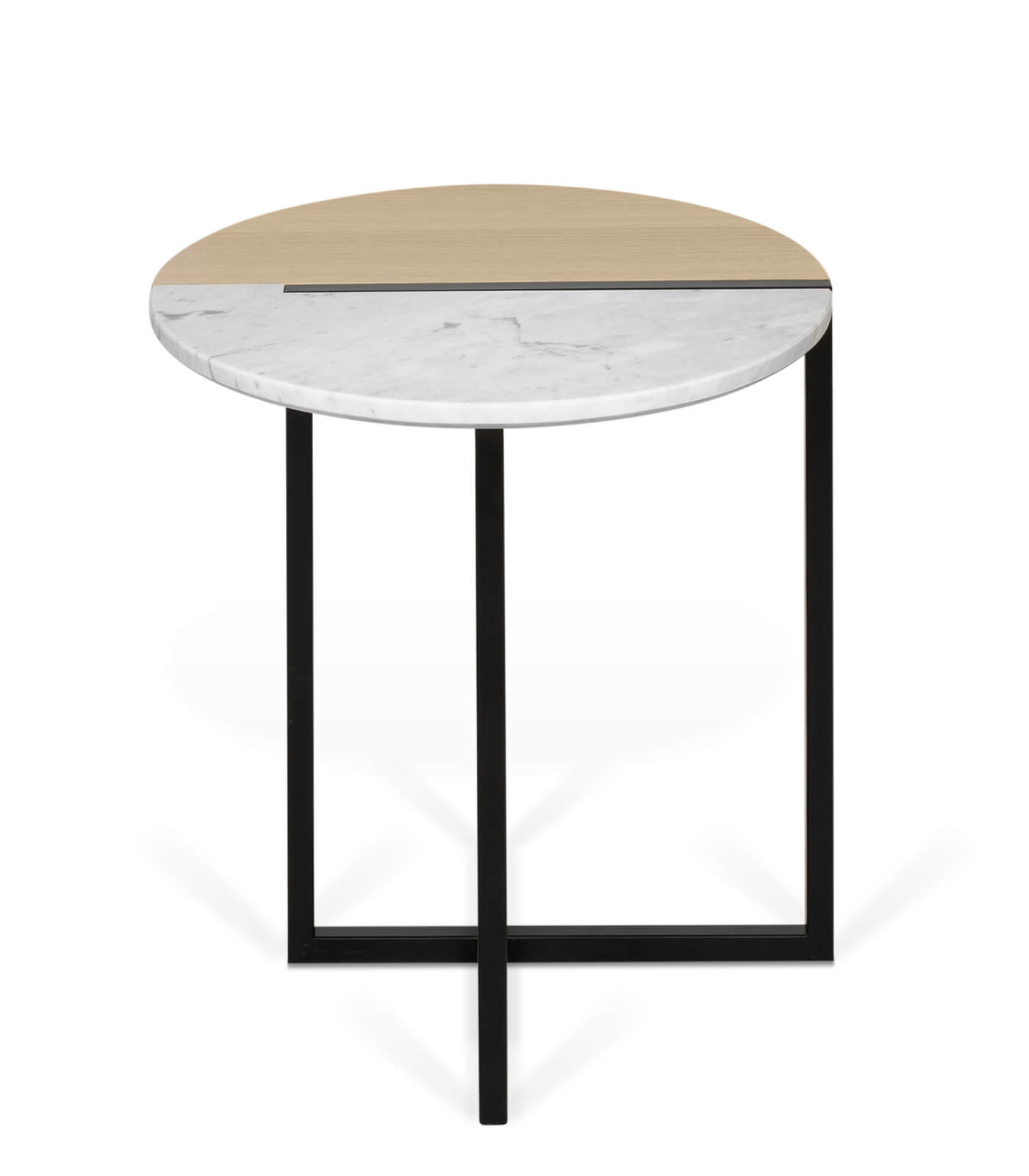 Table D Appoint Holy O 50 Cm Marbre Chene Pastel Living